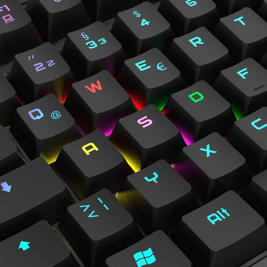uRage Gaming Gamer Tastatur, mechanisch, RGB beleuchtet, Makros