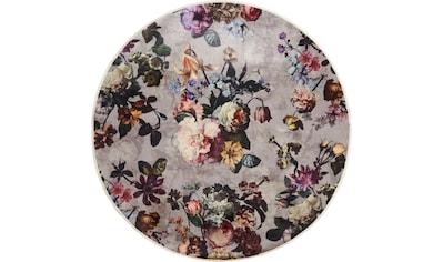 Essenza Teppich »Fleur«, rund, 6 mm Höhe, sehr weicher Flor, Blumen Design, Wohnzimmer kaufen