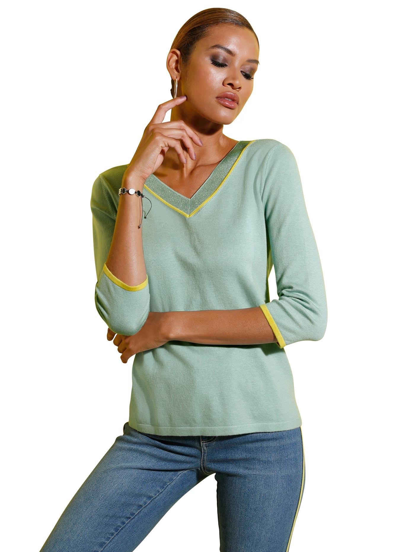 creation l -  V-Ausschnitt-Pullover Pullover