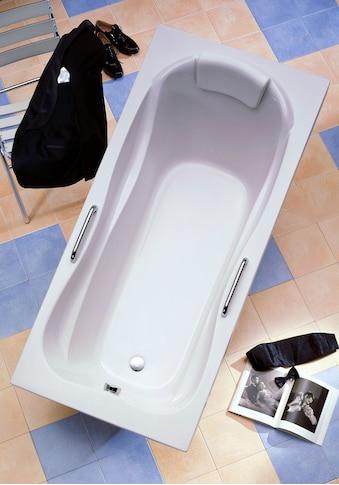 OTTOFOND Badewanne »Jamaica«, mit Wannenträger, Ablaufgarnitur, Nackenkissen und Griffe kaufen