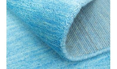 morgenland Wollteppich »Gabbeh Teppich handgewebt blau«, rechteckig, 8 mm Höhe, Kurzflor kaufen