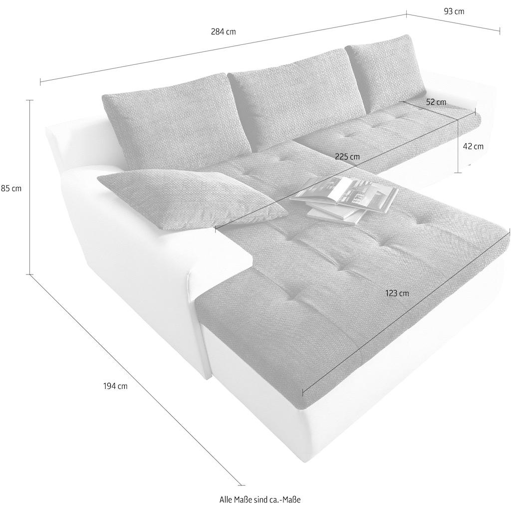 sit&more Ecksofa, XXL, inklusive Bettfunktion und Bettkasten
