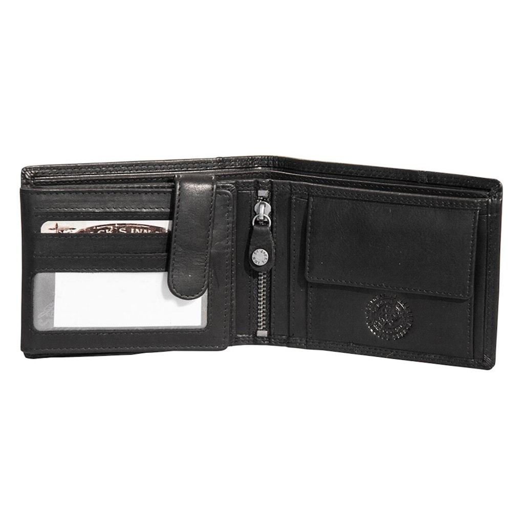 JACK'S INN 54 Geldbörse »Bramble«, aus Leder mit cooler Totenkopf Applikation in echter Handarbeit hergestgellt
