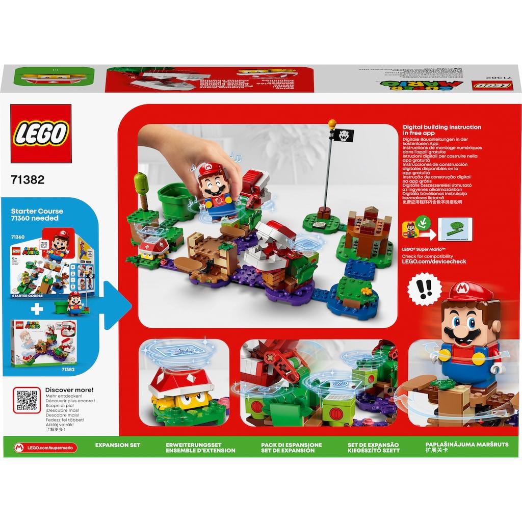 LEGO® Konstruktionsspielsteine »Piranha-Pflanzen-Herausforderung – Erweiterungsset (71382), LEGO® Super Mario«, (267 St.), Made in Europe