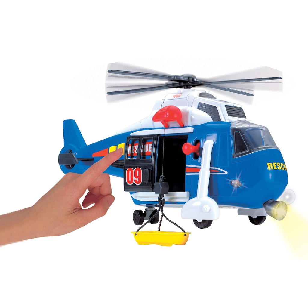 Dickie Toys Spielzeug-Hubschrauber, mit drehbarem Rotor, Licht und Sound