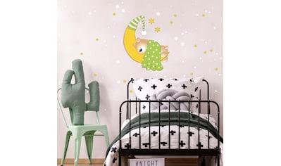 Wall-Art Wandtattoo »Bärchen Mond Leuchtsterne« kaufen