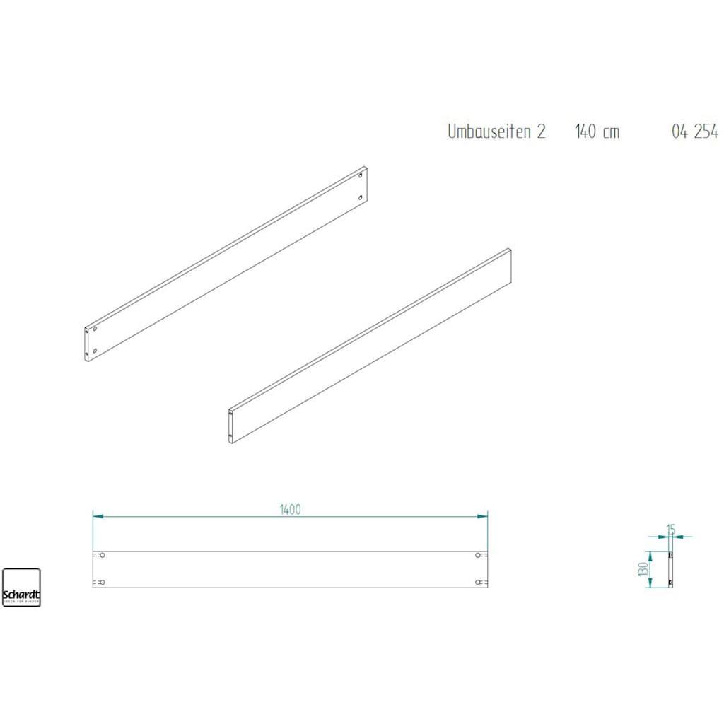 Schardt Umbauseiten »Universal, weiß«, für Schardt Kombi-Kinderbetten und Hausbetten; Made in Germany