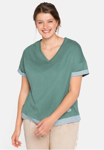Sheego Oversize-Shirt, im Lagenlook kaufen