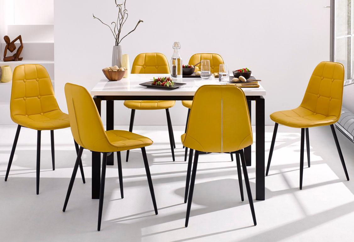 Essgruppe (Set 5-tlg) | Küche und Esszimmer > Essgruppen > Essgruppen | Gelb