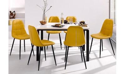 my home Essgruppe »Sabine + Luna«, (Set, 5 tlg.), Esstisch, Breite 160 cm und 4... kaufen