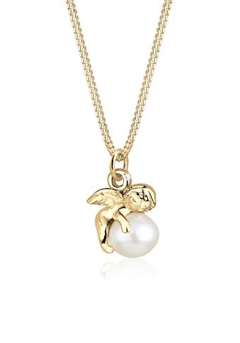 Elli Perlenkette »Anhänger Engel mit Süßwasserzuchtperle 925 Silber« kaufen