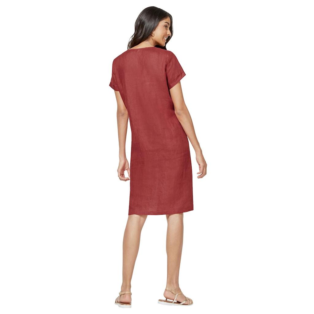 Inspirationen Kleid mit asymmetrischer Zierknopfleiste