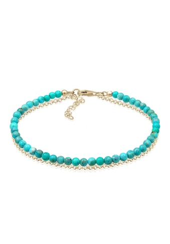 Elli Armband »Layer Howlith Edelstein Beads Boho 925er Silber« kaufen