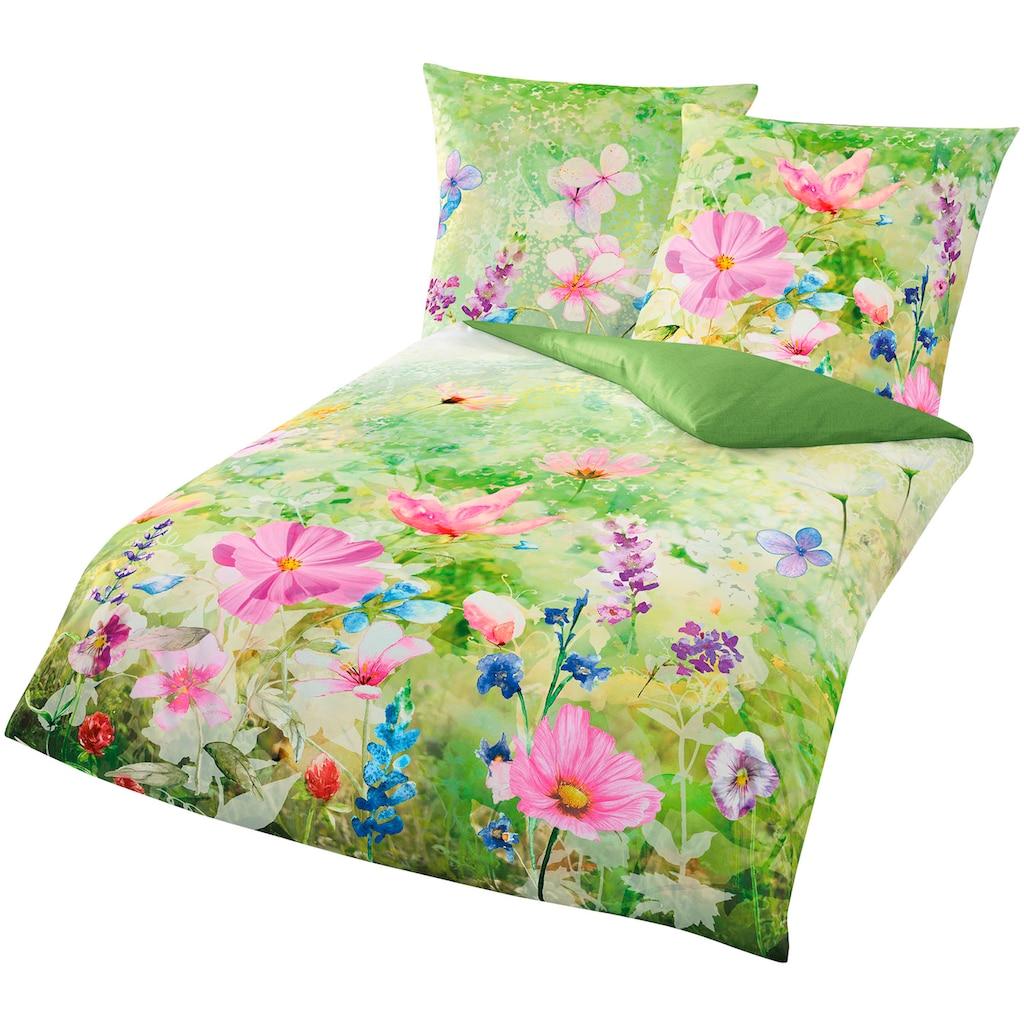 BIERBAUM Bettwäsche »Meadow«, mit schöner Blumenwiese