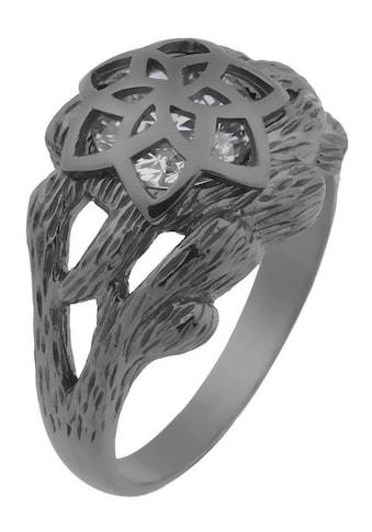 Der Herr der Ringe Fingerring »Dark Years Collection Nenya  -  Galadriels Ring  -  schwarz weiß, 20002184« kaufen