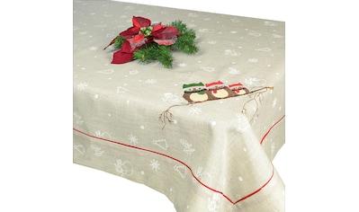 Delindo Lifestyle Tischdecke »EULEN«, gesticktes Design, schwere Qualität kaufen