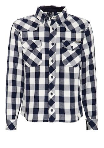 KingKerosin Langarmhemd »Faster & Louder«, mit Karomuster und Rückenstickerei kaufen