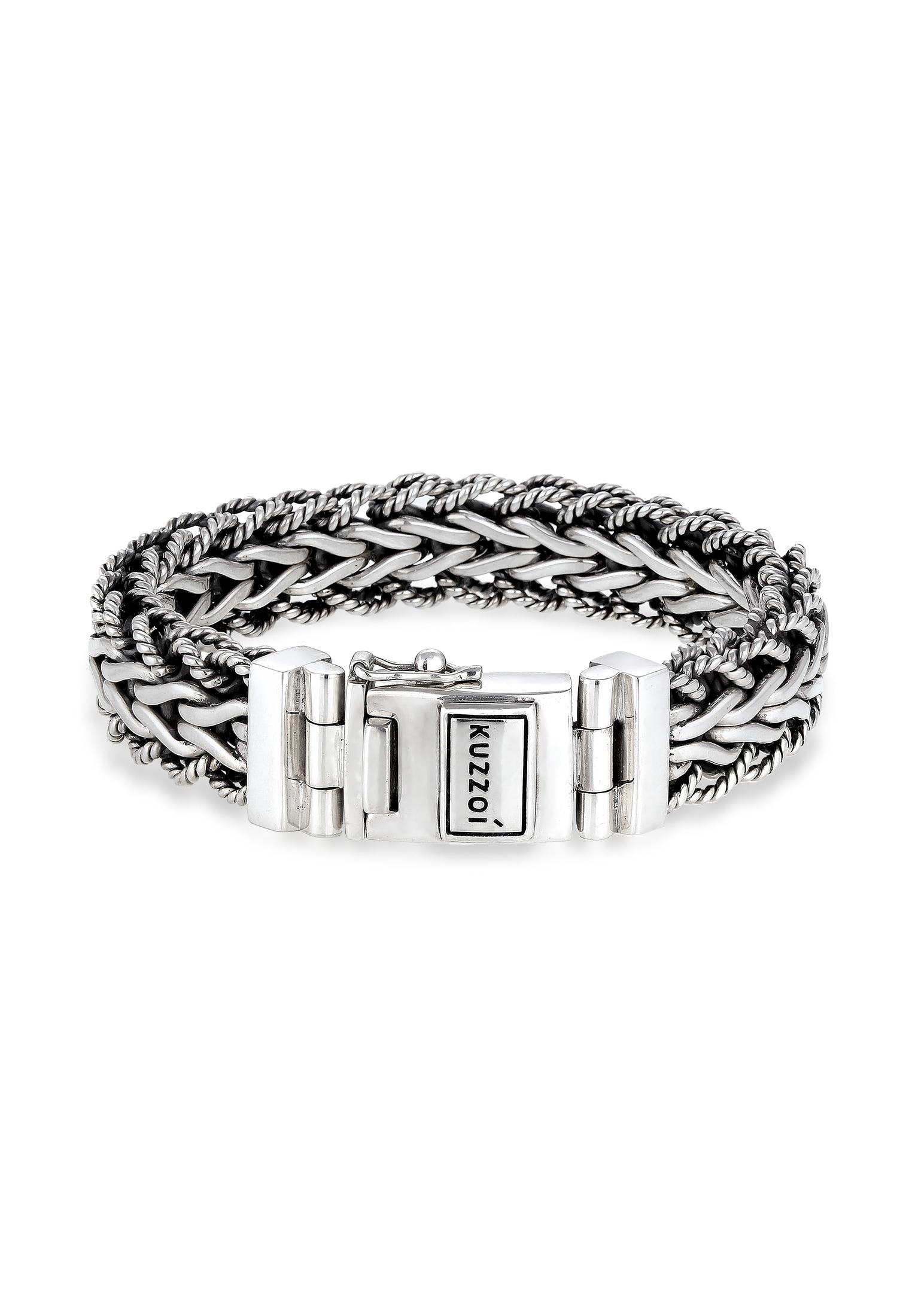 kuzzoi -  Armband Herren Panzerarmband Gliederkette 925er Silber