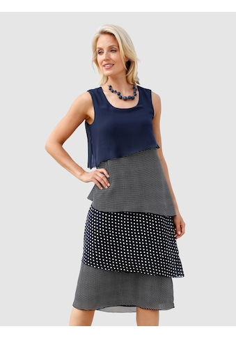 Paola Kleid im doppellagigen Look kaufen