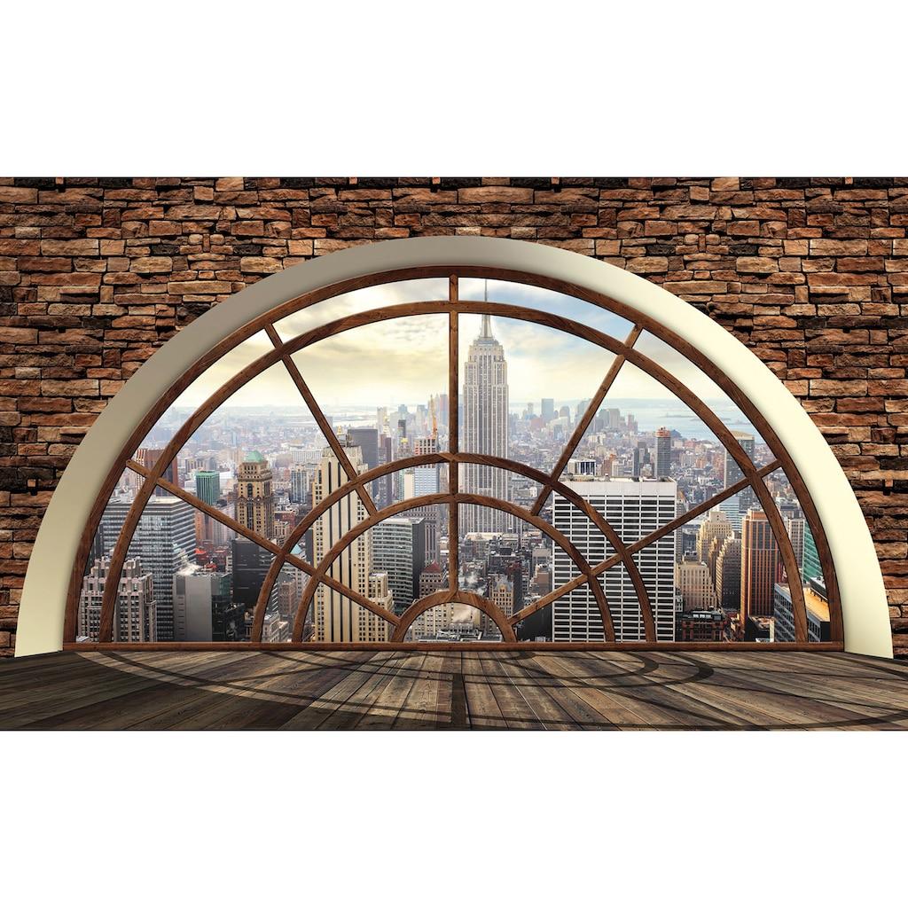 Vliestapete »New York Fensterblick«, verschiedene Motivgrößen, für das Büro oder Wohnzimmer