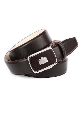 Anthoni Crown Ledergürtel, Eleganter Gürtel mit auffälliger Schließe kaufen