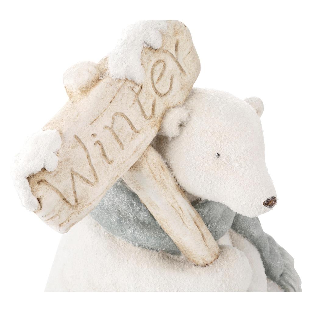 Tierfigur »Eisbär«, für den Innen- und Außenbereich, Höhe 40 cm