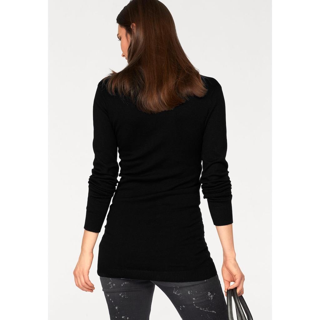 Laura Scott Rollkragenpullover, extra langer Schnitt