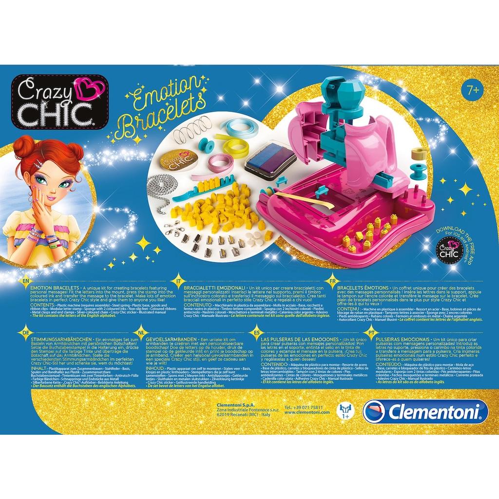 Clementoni® Kreativset »Crazy Chic - Stimmungsarmbändchen«, mit kostenloser App; Made in Europe