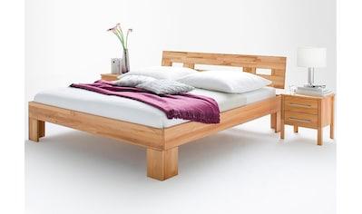 Home affaire Massivholzbett »Modesty I«, aus massiver Kernbuche, mit robusten Fußgestell, in verschiedenen Bettbreiten kaufen