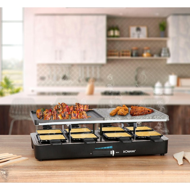 BOMANN Raclette RG 2279 CB, 8 Raclettepfännchen, 1400 Watt
