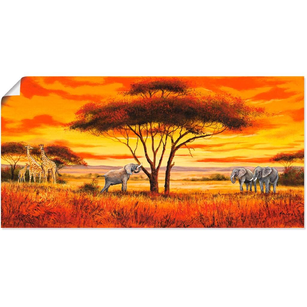 Artland Wandbild »Afrikanische Landschaft II«, Afrika, (1 St.)