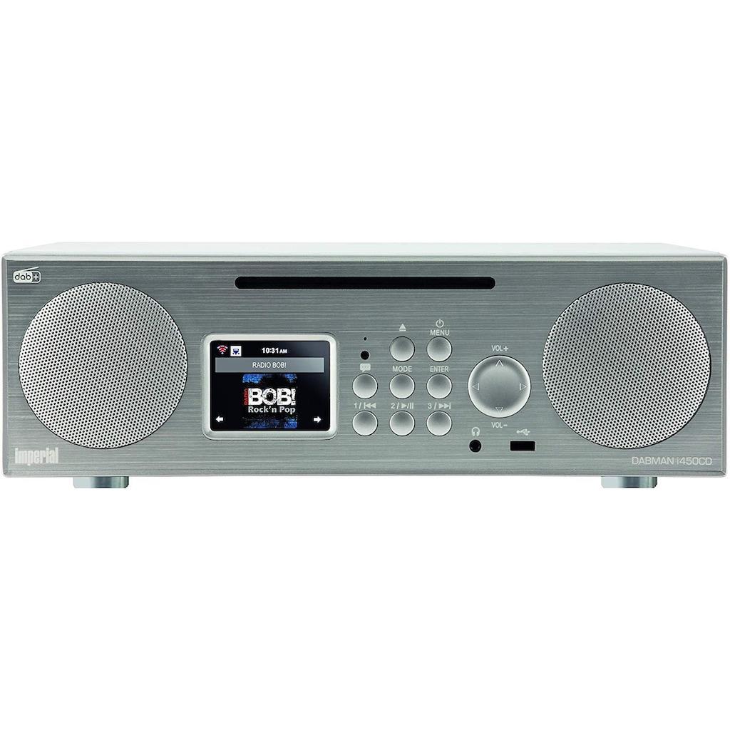 IMPERIAL Digitalradio (DAB+) »DABMAN i450 CD«, (Bluetooth-CD Digitalradio (DAB+)-FM-Tuner-Internetradio 14 W), CD Player, diverse Streamingdienste