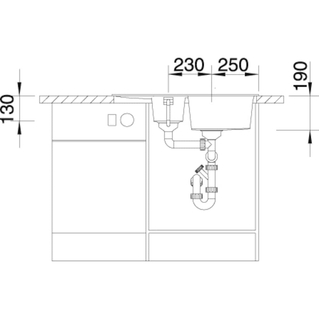 Blanco Granitspüle »METRA 6 S Compact«, aus SILGRANIT®