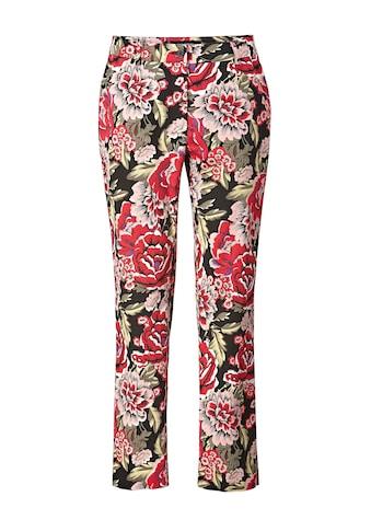 Sara Lindholm by Happy Size Stretch-Hose mit Blumen-Print kaufen