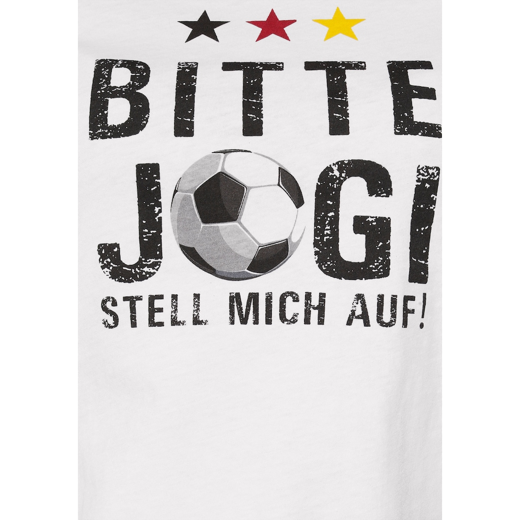 STOOKER WOMEN Rundhalsshirt »Cara«, mit Fan-Slogan, perfekt für die EM 2021