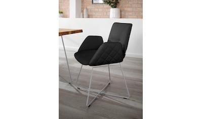 W.SCHILLIG Armlehnstuhl »lotta«, 2er- oder 4er-Set, mit Rücken- & Seitenteilsteppung, Drahtrohrgestell in Silber matt kaufen