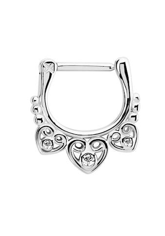 Adelia´s Nasenpiercing »Septum Clicker Nasenpiercing aus 316l Stahl mit drei Herzen«,... kaufen