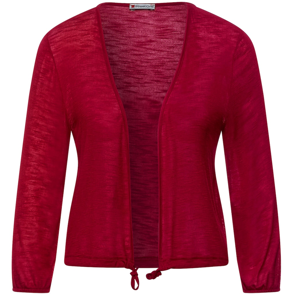 STREET ONE Shirtjacke »Style Suse«, aus leicht transparentem Material