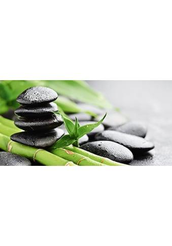 Home affaire Glasbild »Bambus und Steine« kaufen