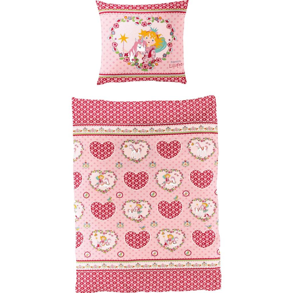 Prinzessin Lillifee Kinderbettwäsche »Herz«, mit Herzen und Blumen