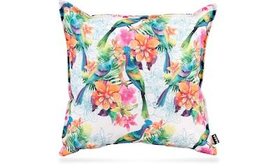 H.O.C.K. Dekokissen »Paradise 1«, mit Vögeln und Blumen kaufen