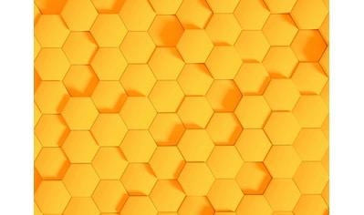 LIVINGWALLS Fototapete »Designwalls Honeycomb 2«, Premium Vlies kaufen