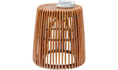 TOM TAILOR Beistelltisch »T-RATTAN SIDE TABLE HIGH«, hoher Beistelltisch aus Rattan... kaufen
