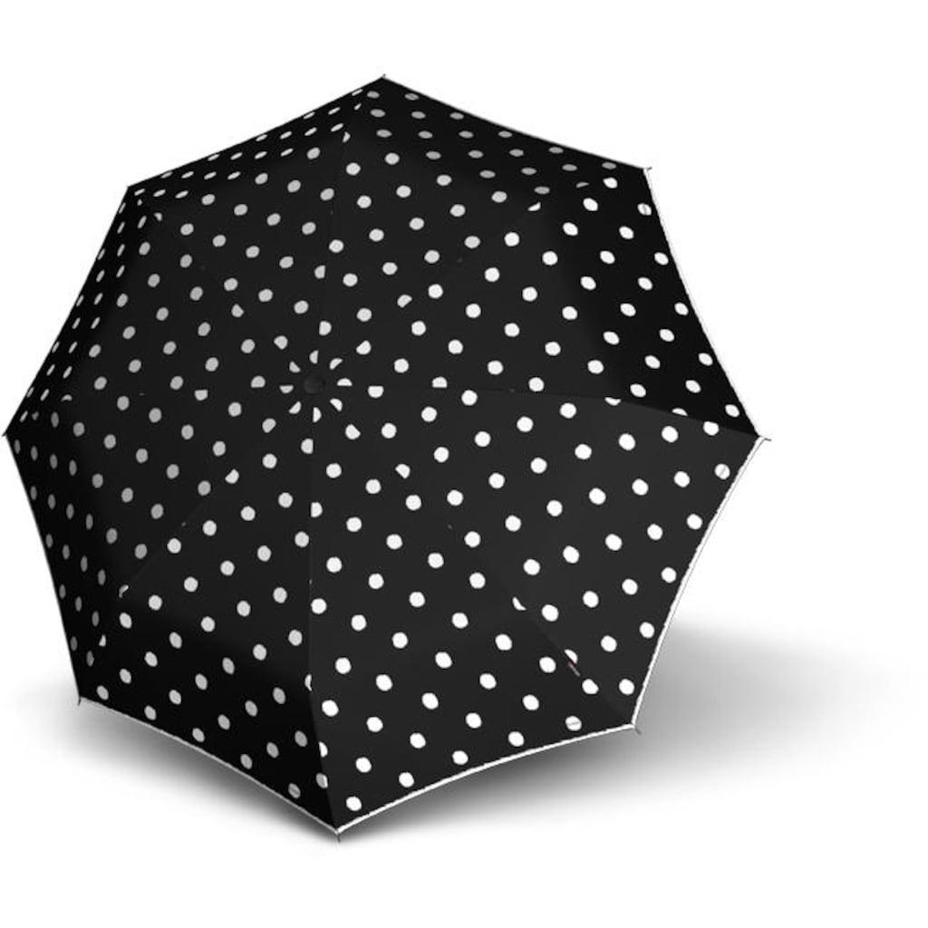 Knirps® Taschenregenschirm »T.010 Small Manual, Dot Art Black«