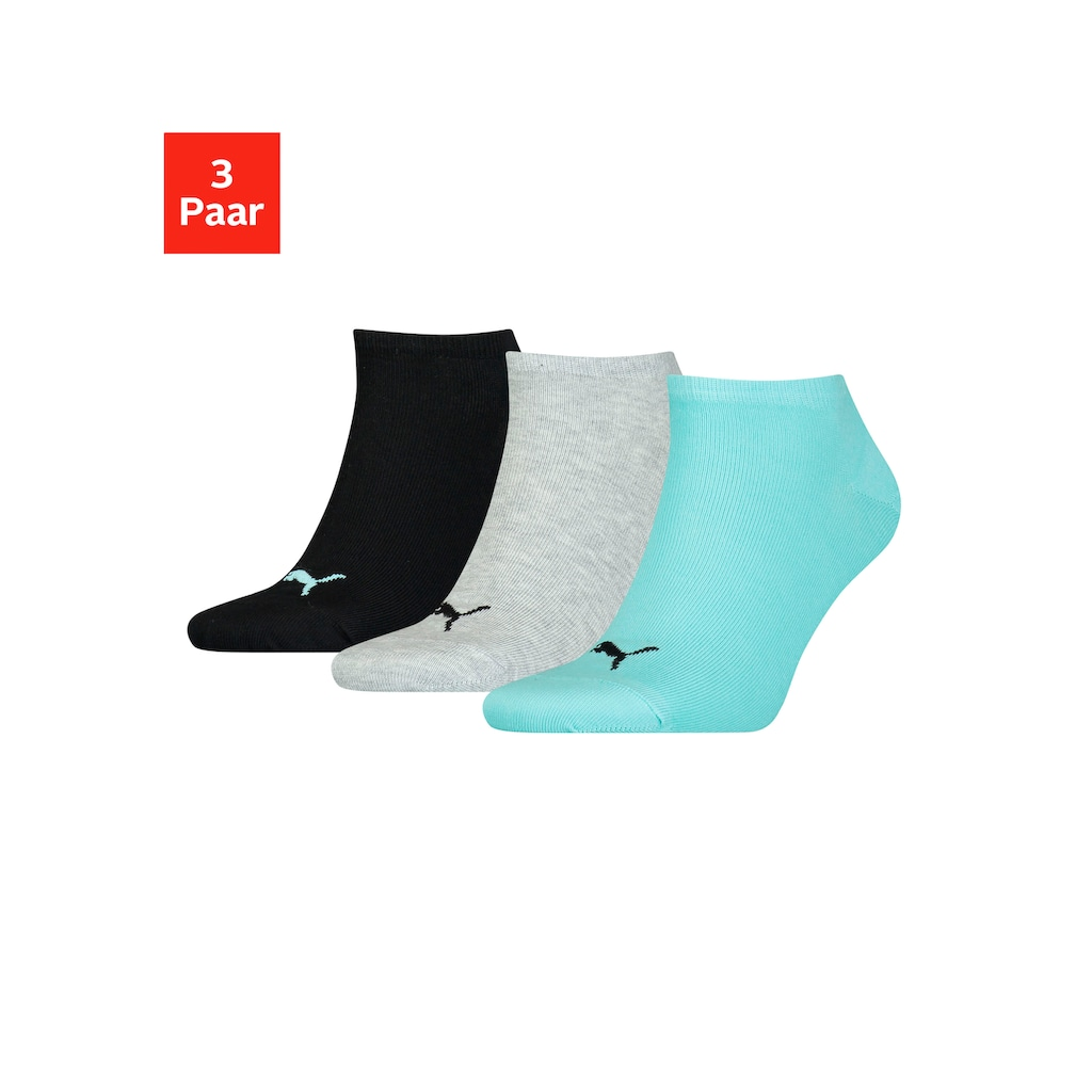 PUMA Sneakersocken, (3 Paar), in klassischer Form