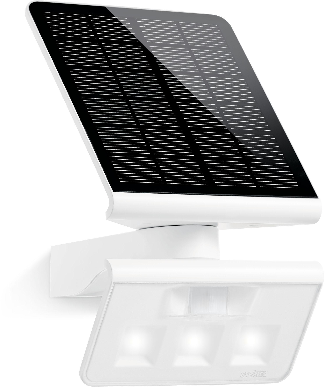 steinel Außen-Wandleuchte XSolar L-S, LED-Board, Neutralweiß, 140° Bewegungsmelder, netzunabhänig, mit Solarpanel