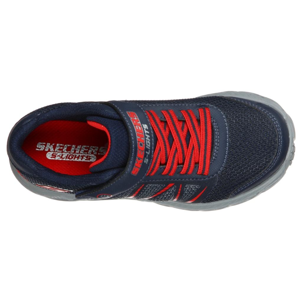 Skechers Kids Sneaker »Blinkschuh DYNAMIC-FLASH«, mit seitlicher Blinkfunktion