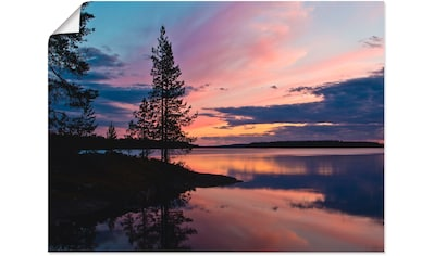 Artland Wandbild »Bäume am See Lentua«, Gewässer, (1 St.), in vielen Größen &... kaufen