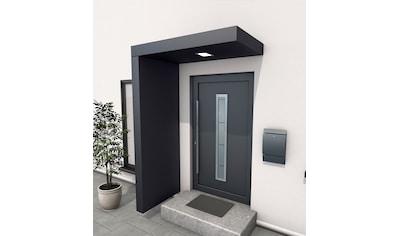 GUTTA Vordach - Set »BS 160«, 160 cm, mit Seitenteil, Aluminium anthrazit kaufen