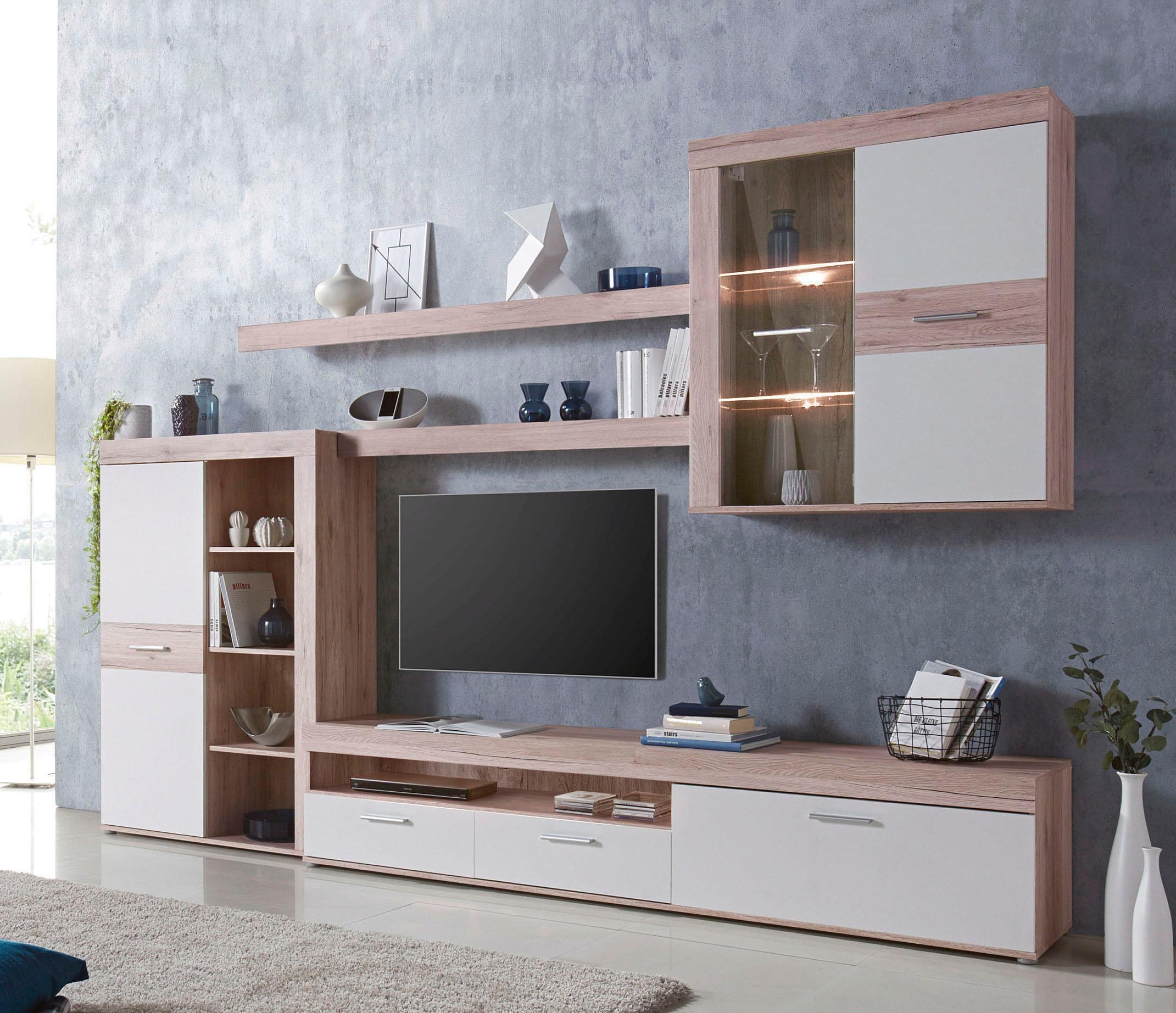 FORTE Wohnwand | Wohnzimmer > Schränke > Wohnwände | Weiß | FORTE